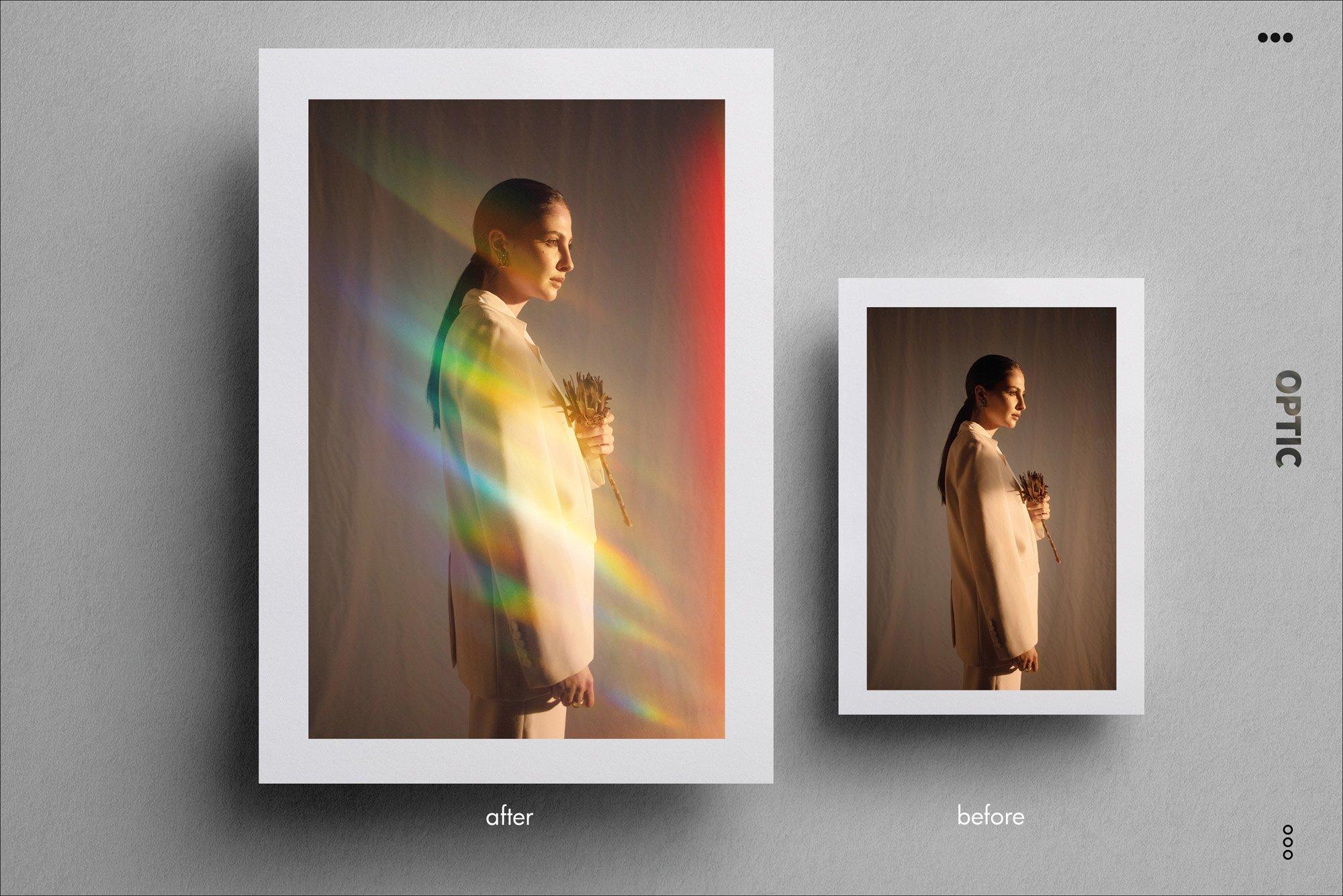 70种高清光谱棱镜反射漏光PS叠加层图片素材 OPTIC Prism & Rainbow Light Leaks插图(14)