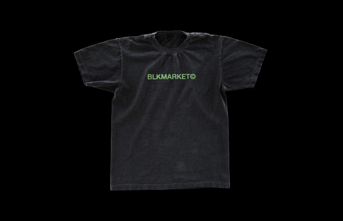 潮流复古T恤半袖衫印花图案设计展示贴图样机模板 BLKMARKET – Vintage Tee插图