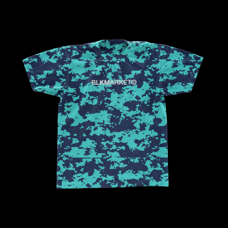 潮流复古T恤半袖衫印花图案设计展示贴图样机模板 BLKMARKET – Vintage Tee插图(1)