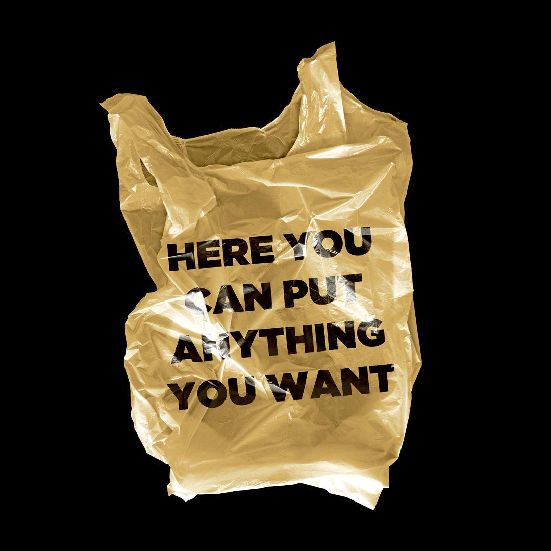 潮流超市购物塑料袋设计展示样机模板 Plastic Bag Mockup插图