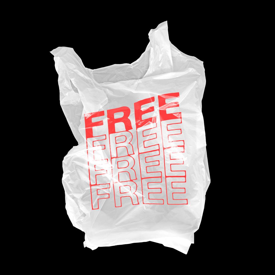 潮流超市购物塑料袋设计展示样机模板 Plastic Bag Mockup插图(3)