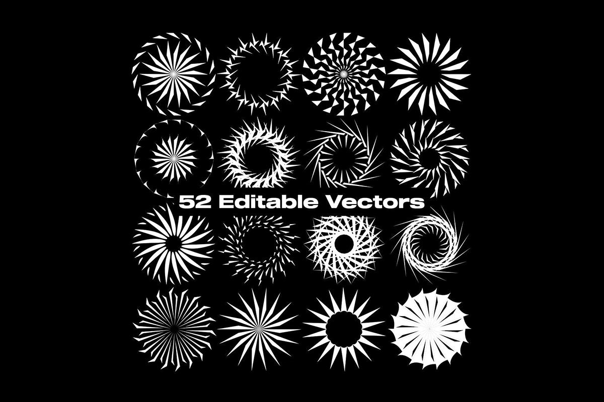 52款抽象曼陀罗图标矢量图AI设计素材 SEARCH Mandala Vectors插图