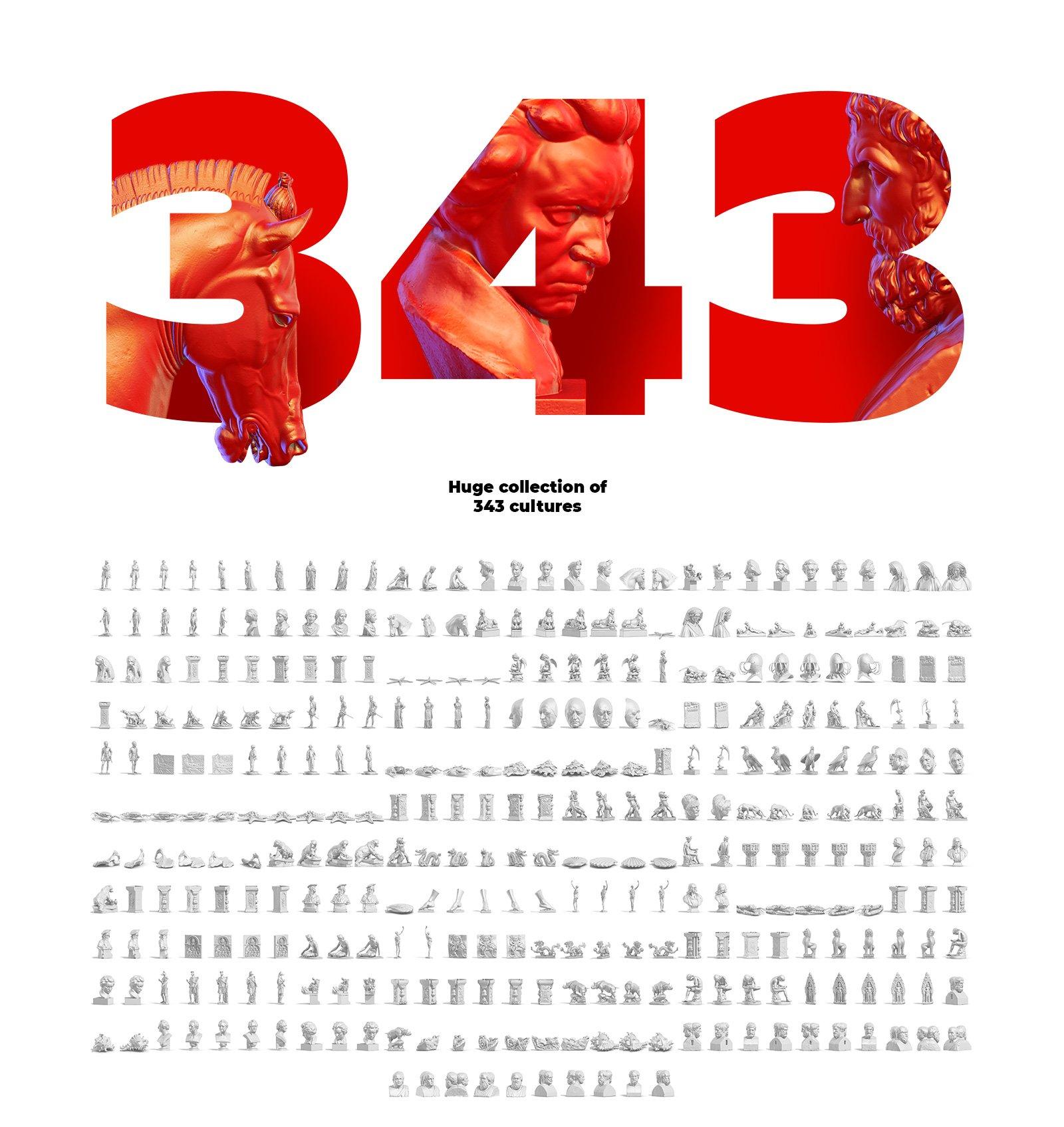 [淘宝购买] 343款复古蒸汽波艺术人物动物石膏雕像模型PS素材源文件 343 Sculptures Mockup插图(2)