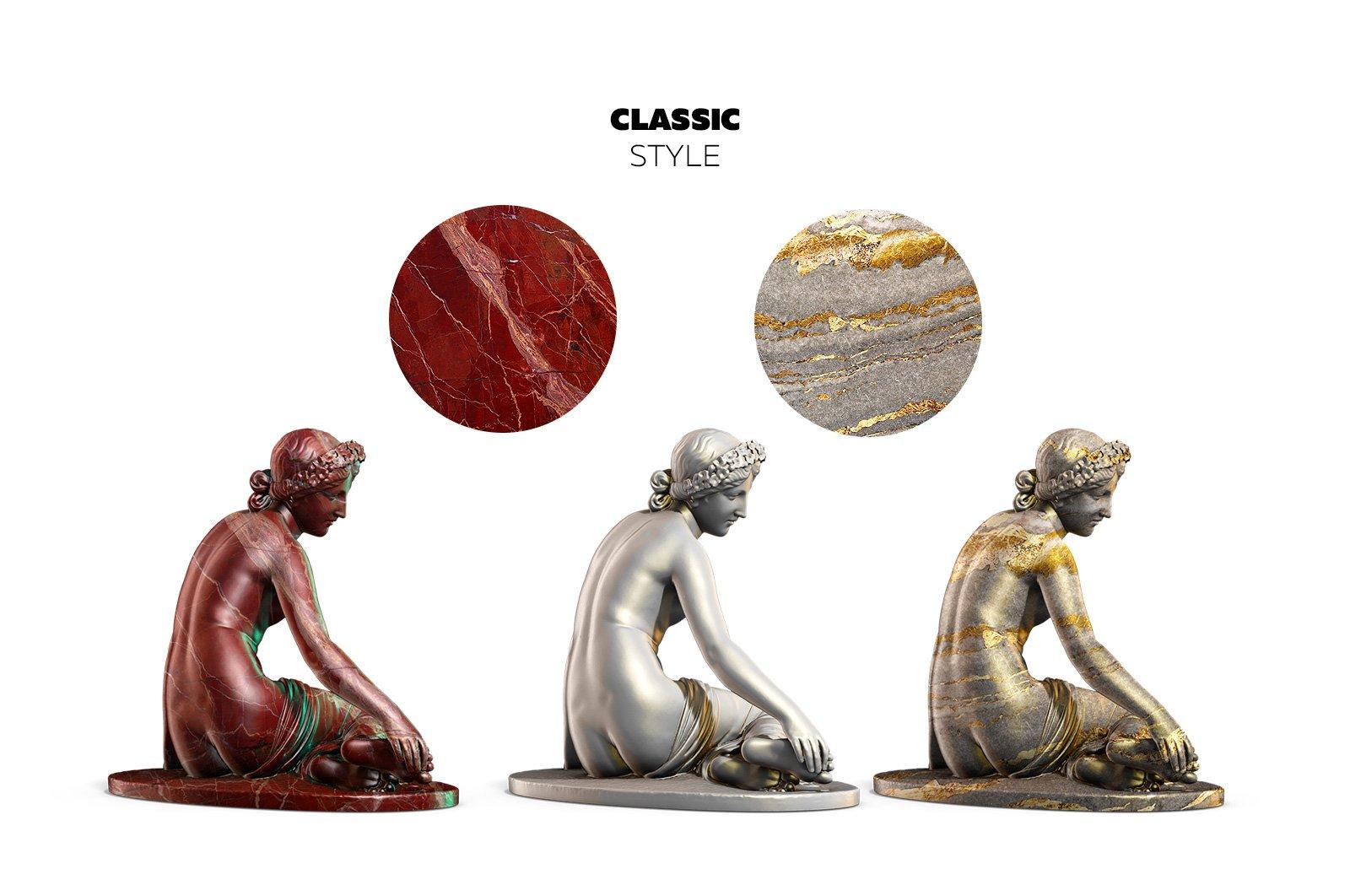 [淘宝购买] 343款复古蒸汽波艺术人物动物石膏雕像模型PS素材源文件 343 Sculptures Mockup插图(5)