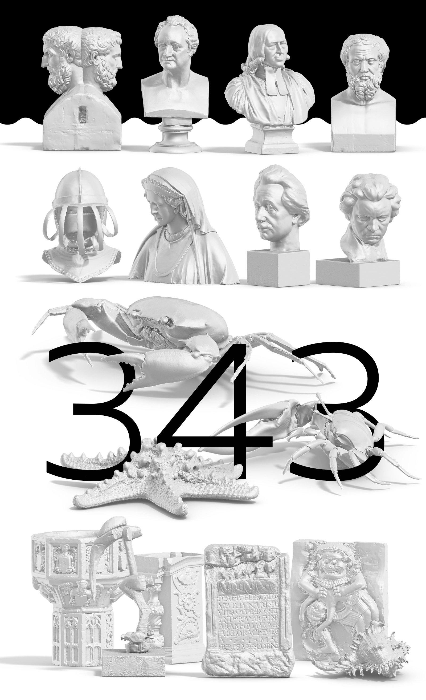 [淘宝购买] 343款复古蒸汽波艺术人物动物石膏雕像模型PS素材源文件 343 Sculptures Mockup插图(7)