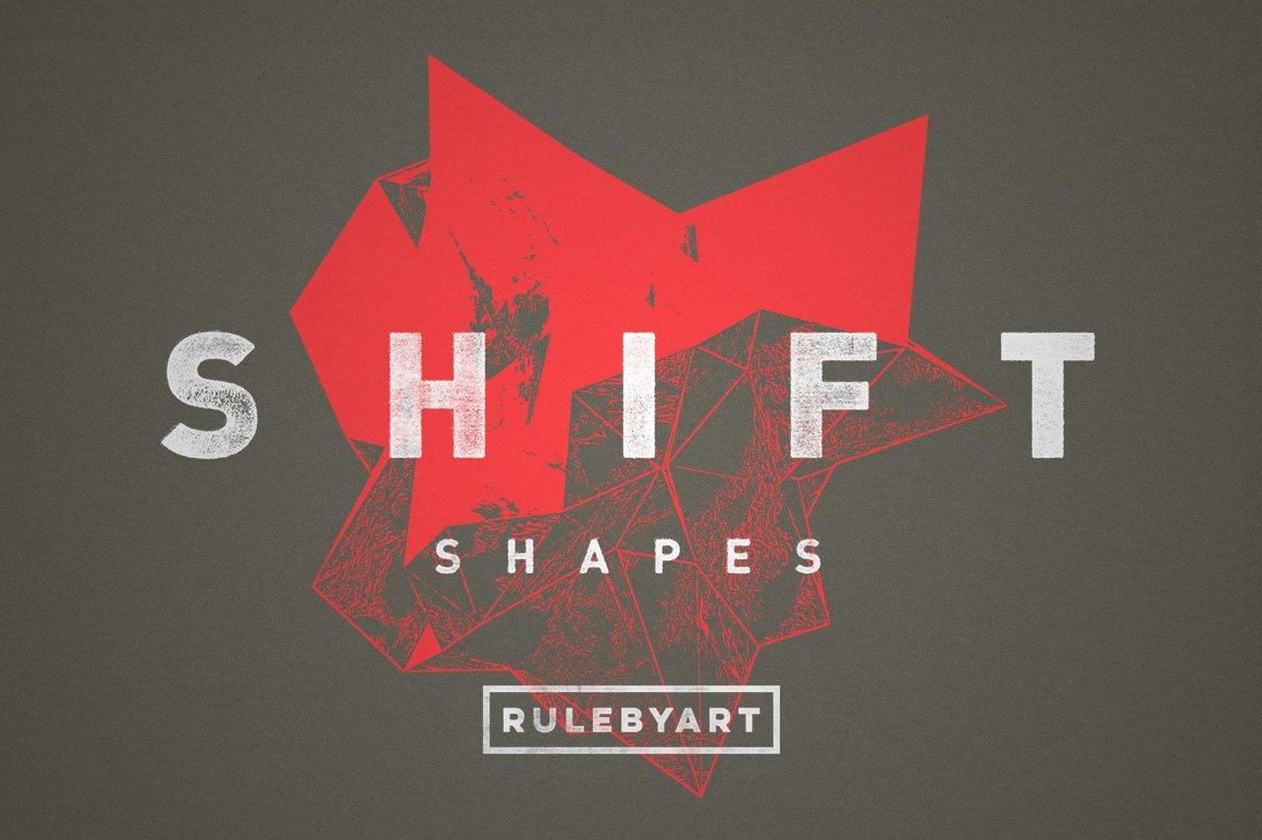 15款抽象位移3D碎片矢量形状纹理设计素材 Rulebyart – Shift Vectors插图