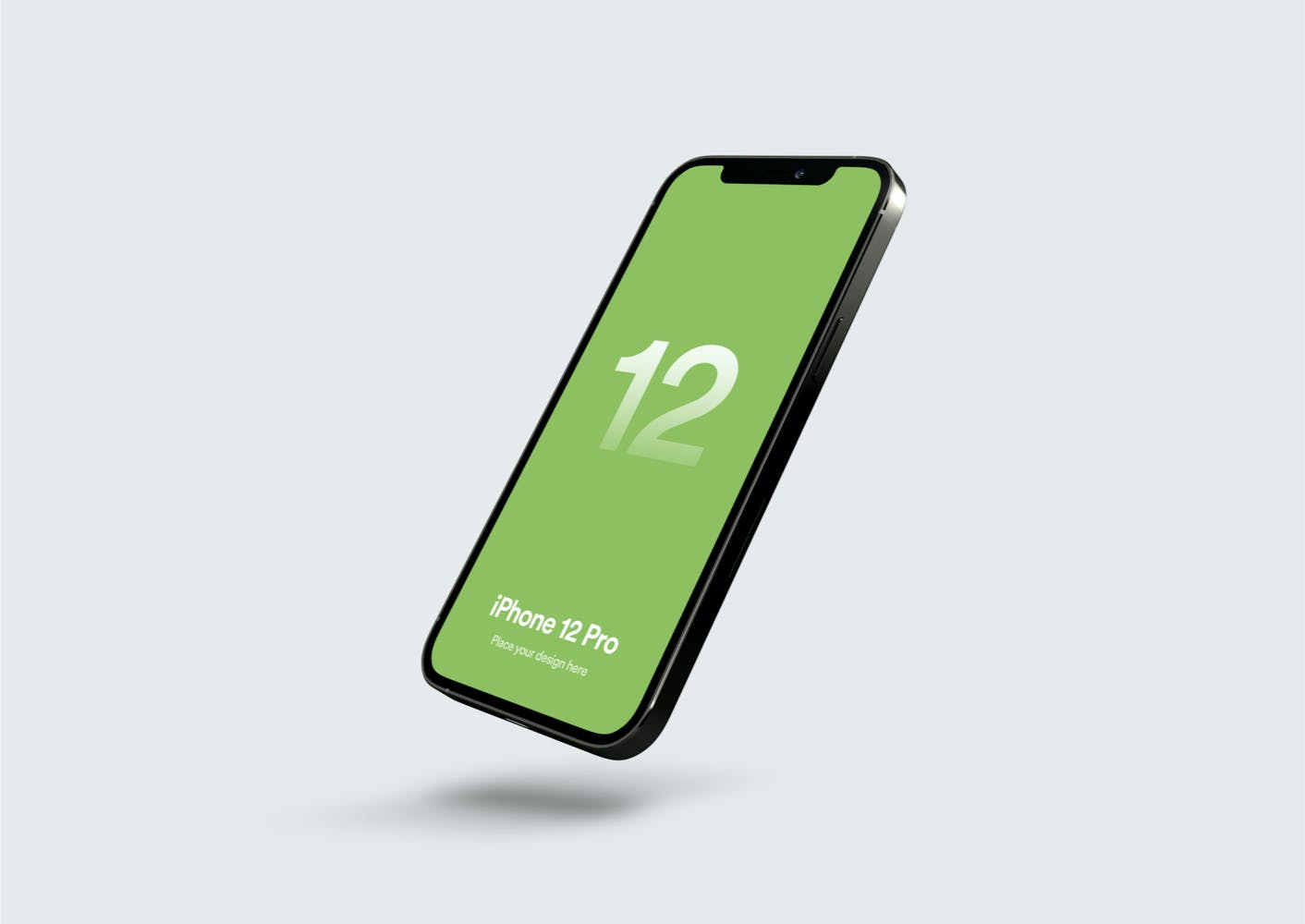 移动应用程序设计苹果iPhone 12 Pro屏幕演示样机 iPhone 12 Pro Mockup – Vol 02插图1
