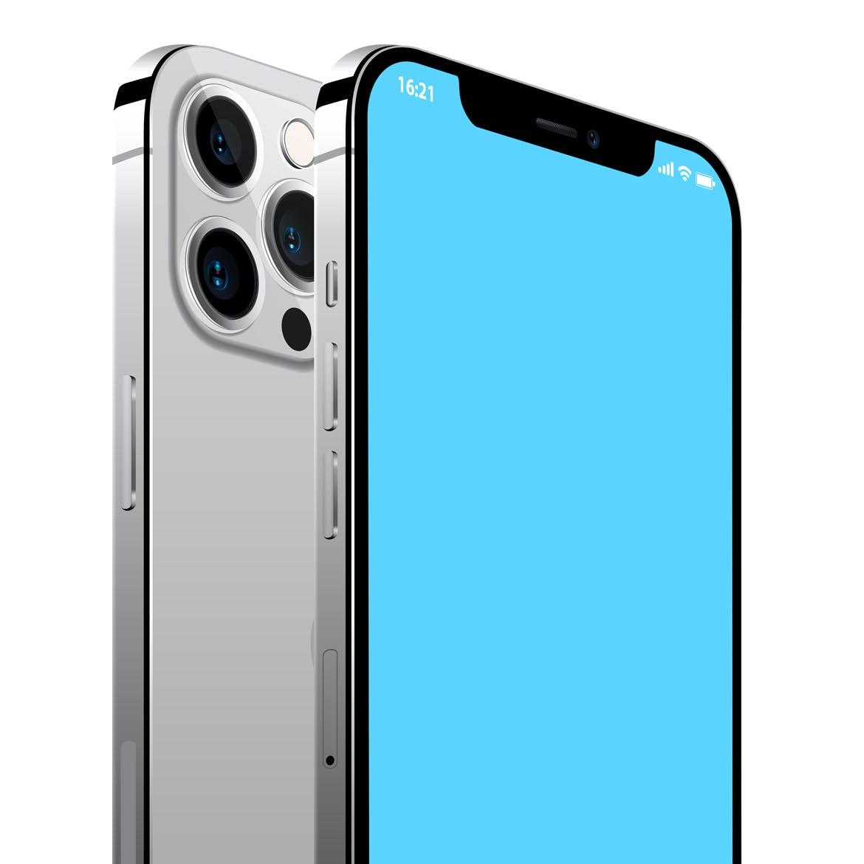 2020新款苹果手机iPhone 12 Pro屏幕演示样机模板 iPhone 12 Pro Layered PSD Mockups插图1