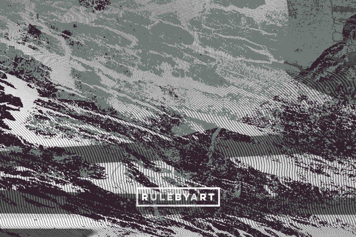 18款粗糙有机木纹矢量纹理设计素材 Rulebyart – Organic Vector Textures插图1