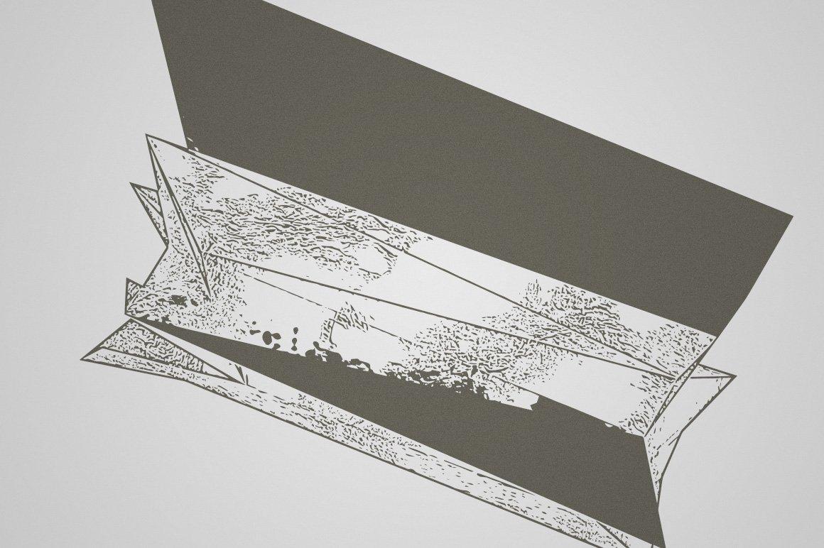15款抽象位移3D碎片矢量形状纹理设计素材 Rulebyart – Shift Vectors插图1