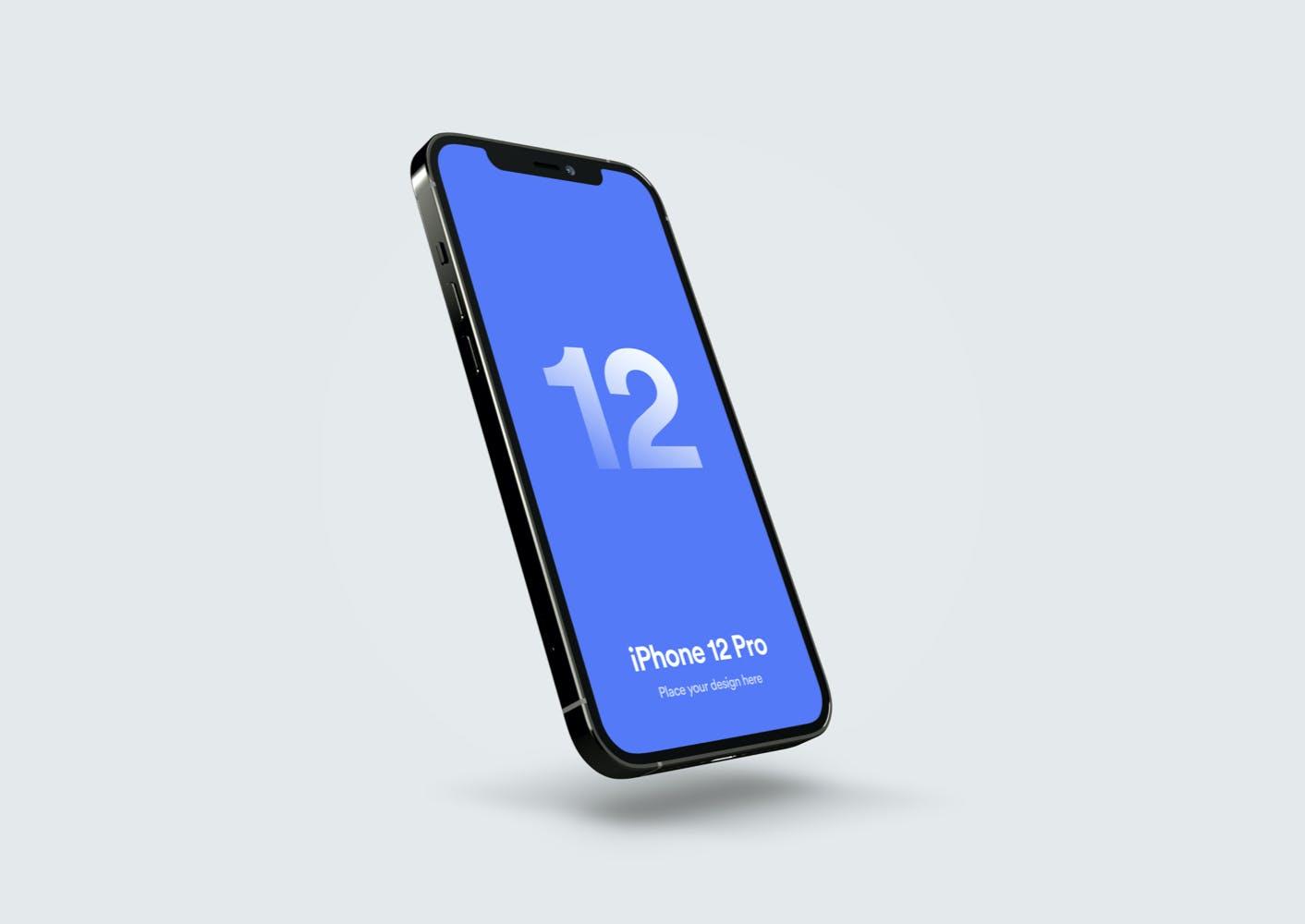 移动应用程序设计苹果iPhone 12 Pro屏幕演示样机 iPhone 12 Pro Mockup – Vol 02插图2