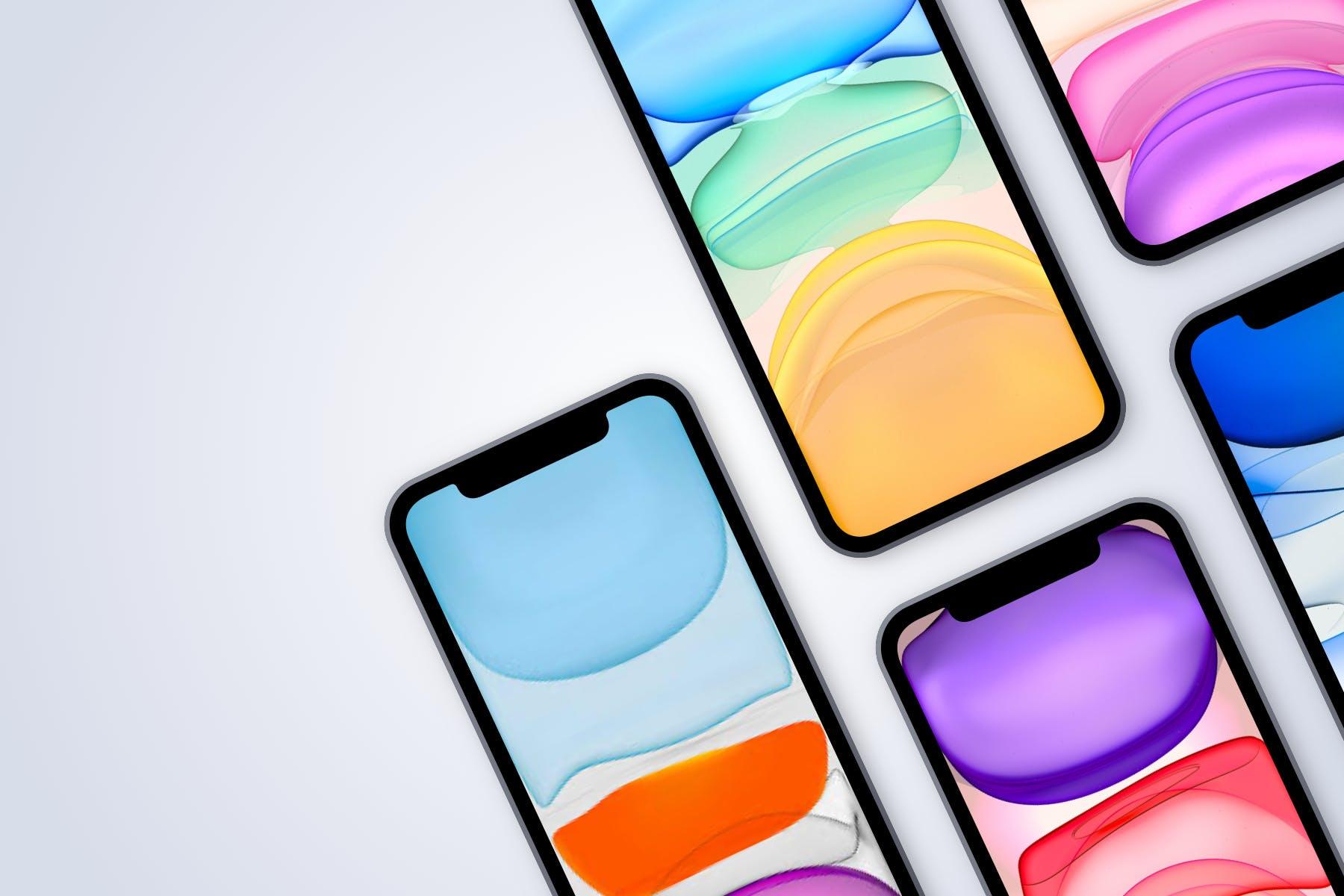 逼真苹果手机iPhone 12 Pro屏幕演示样机Sketch模板素材 iPhone 12 Pro – Sketch Mockup – 4 Different Scenes插图1
