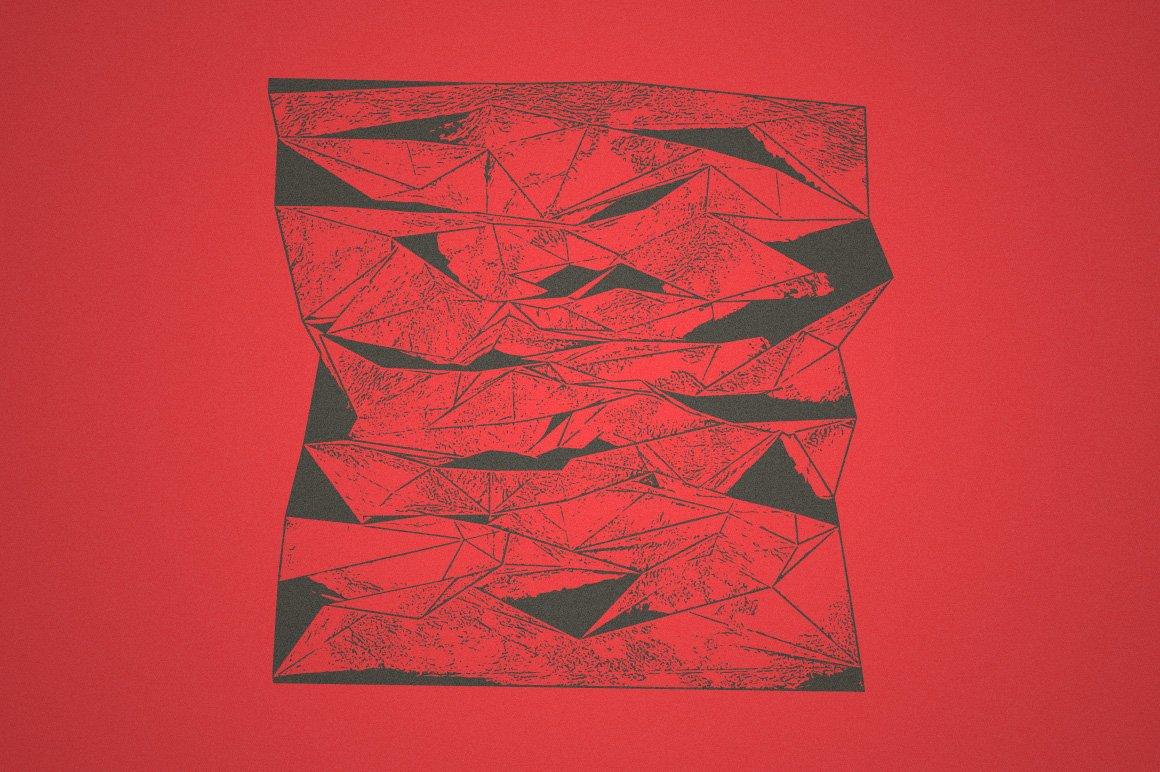15款抽象位移3D碎片矢量形状纹理设计素材 Rulebyart – Shift Vectors插图2