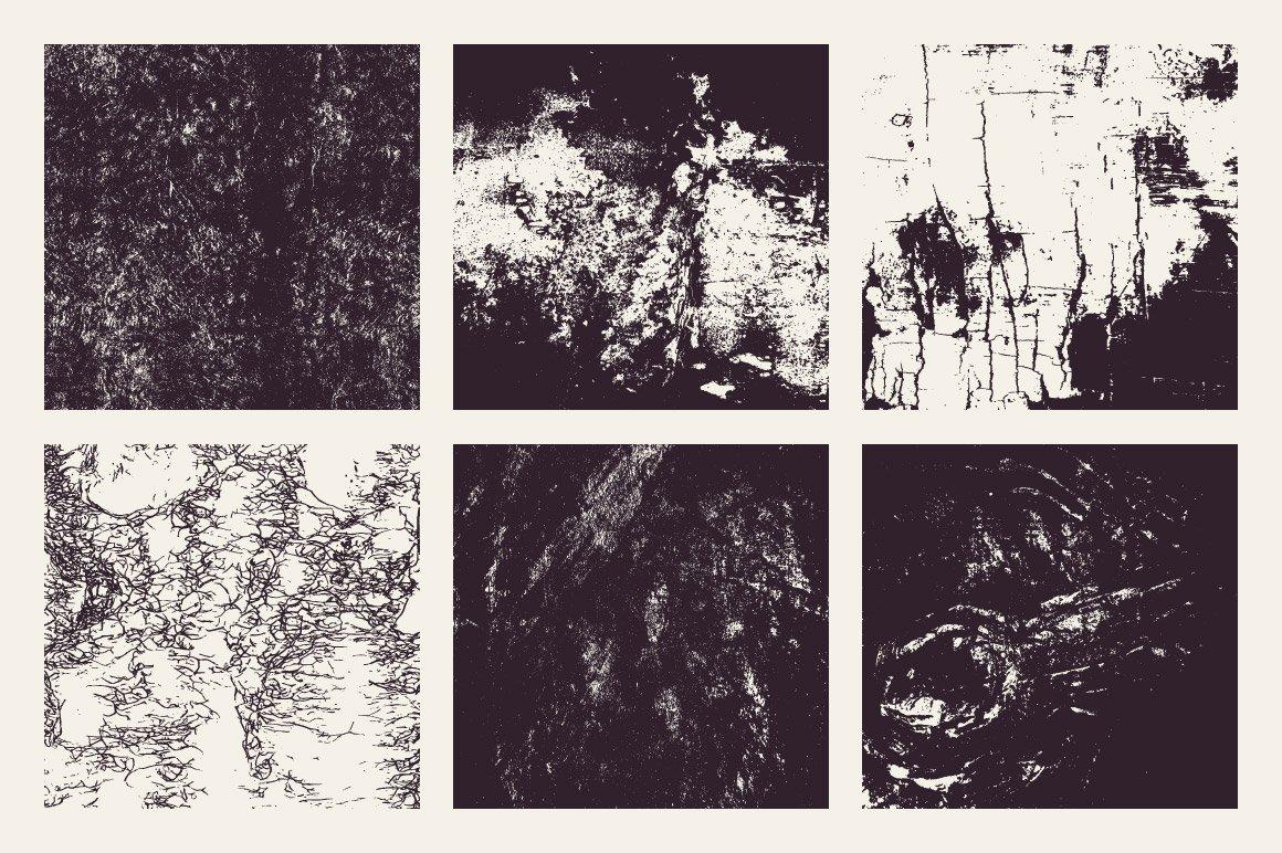 18款粗糙有机木纹矢量纹理设计素材 Rulebyart – Organic Vector Textures插图2