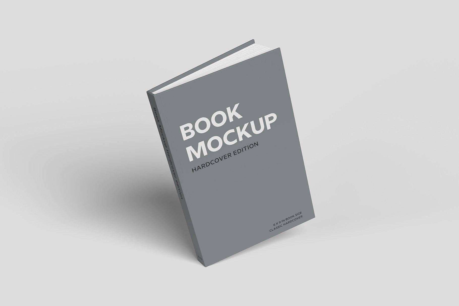 精装书硬皮书画册设计展示贴图样机 Hardcover Book Mockup插图2