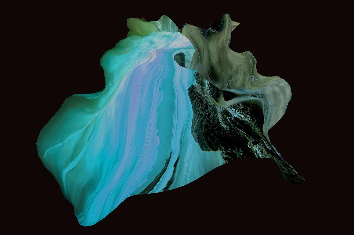 [淘宝购买] 30款抽象高清扭曲3D渲染立体图形背景纹理图片设计素材 Rulebyart – Escape插图2