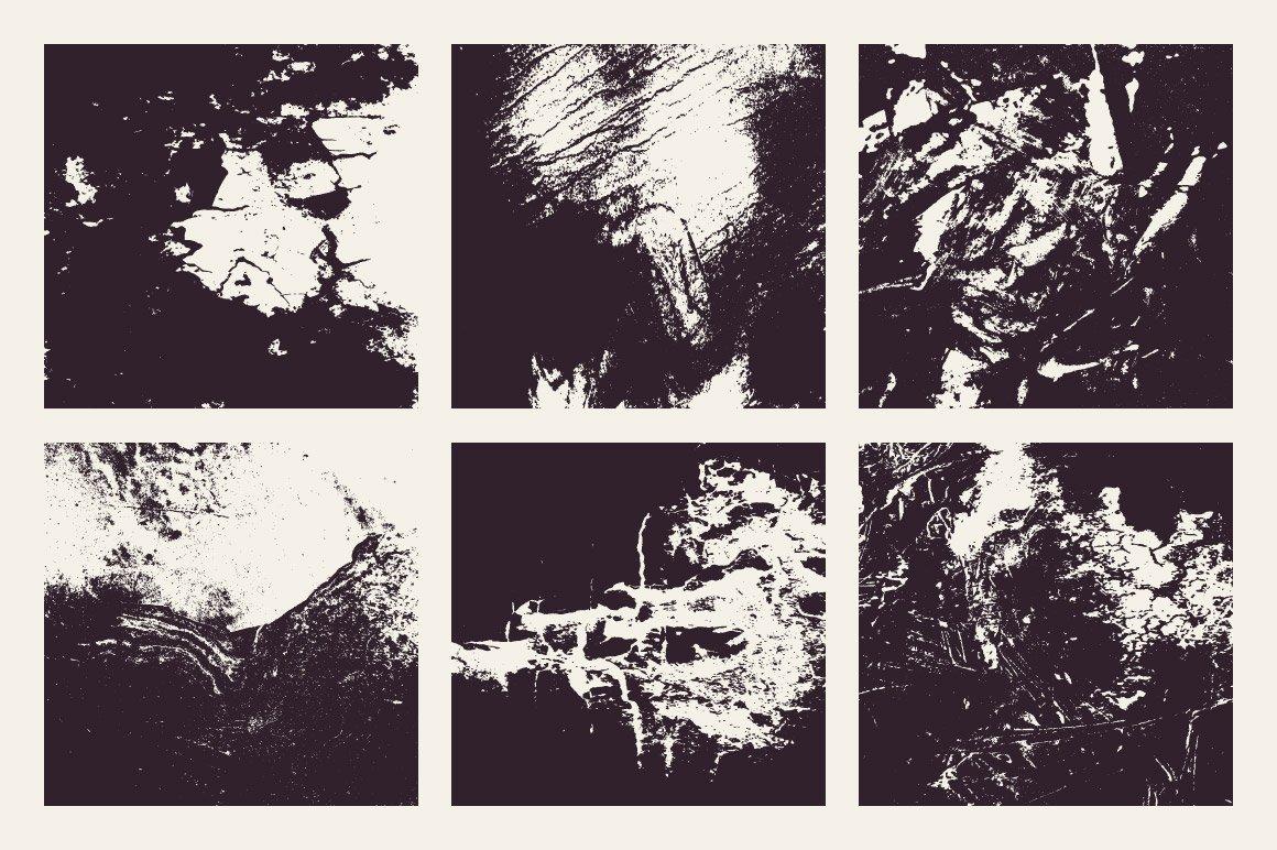 18款粗糙有机木纹矢量纹理设计素材 Rulebyart – Organic Vector Textures插图3