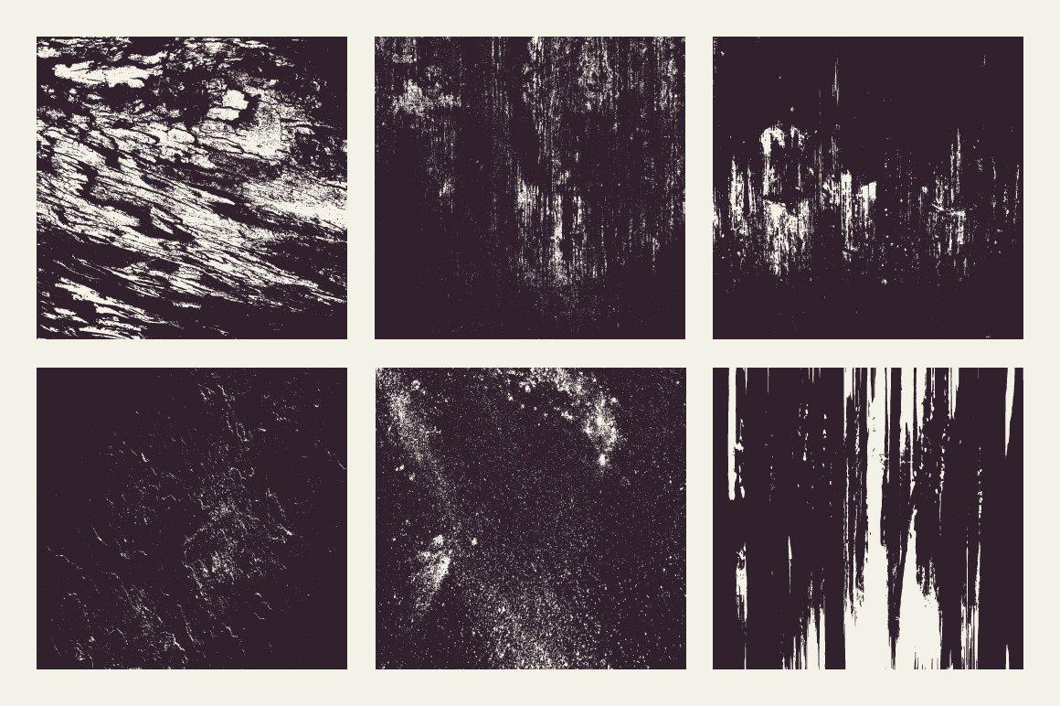 18款粗糙有机木纹矢量纹理设计素材 Rulebyart – Organic Vector Textures插图4