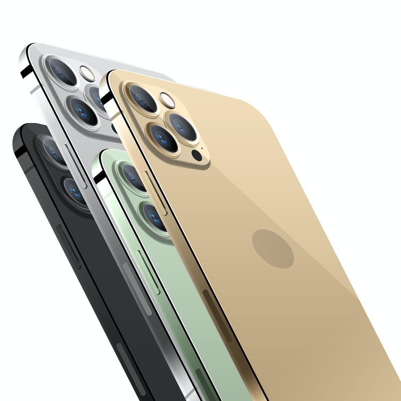APP应用程序设计苹果手机iPhone 12 Pro屏幕演示PSD样机 iPhone 12 Pro Layered PSD Mockups插图4