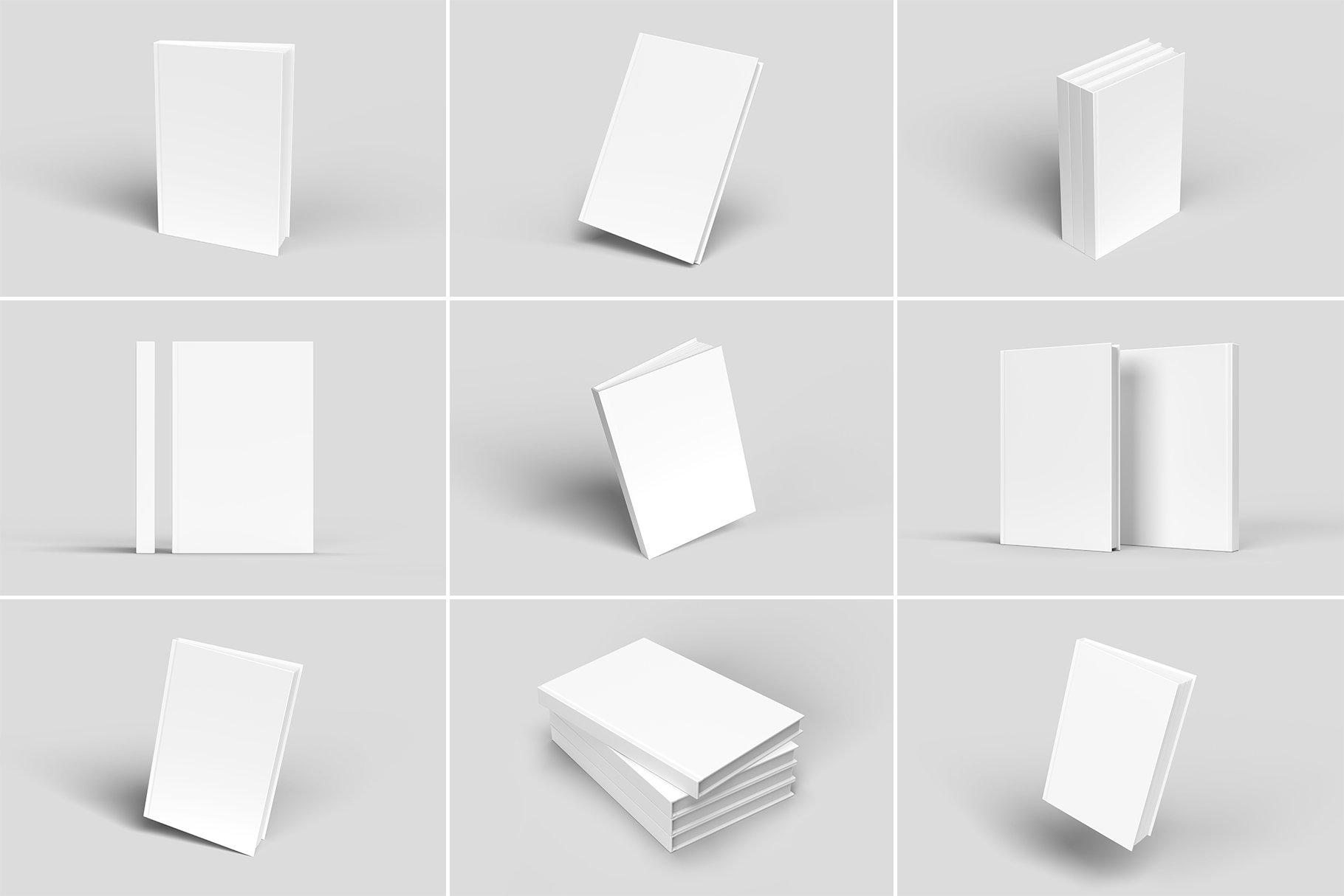 精装书硬皮书画册设计展示贴图样机 Hardcover Book Mockup插图5