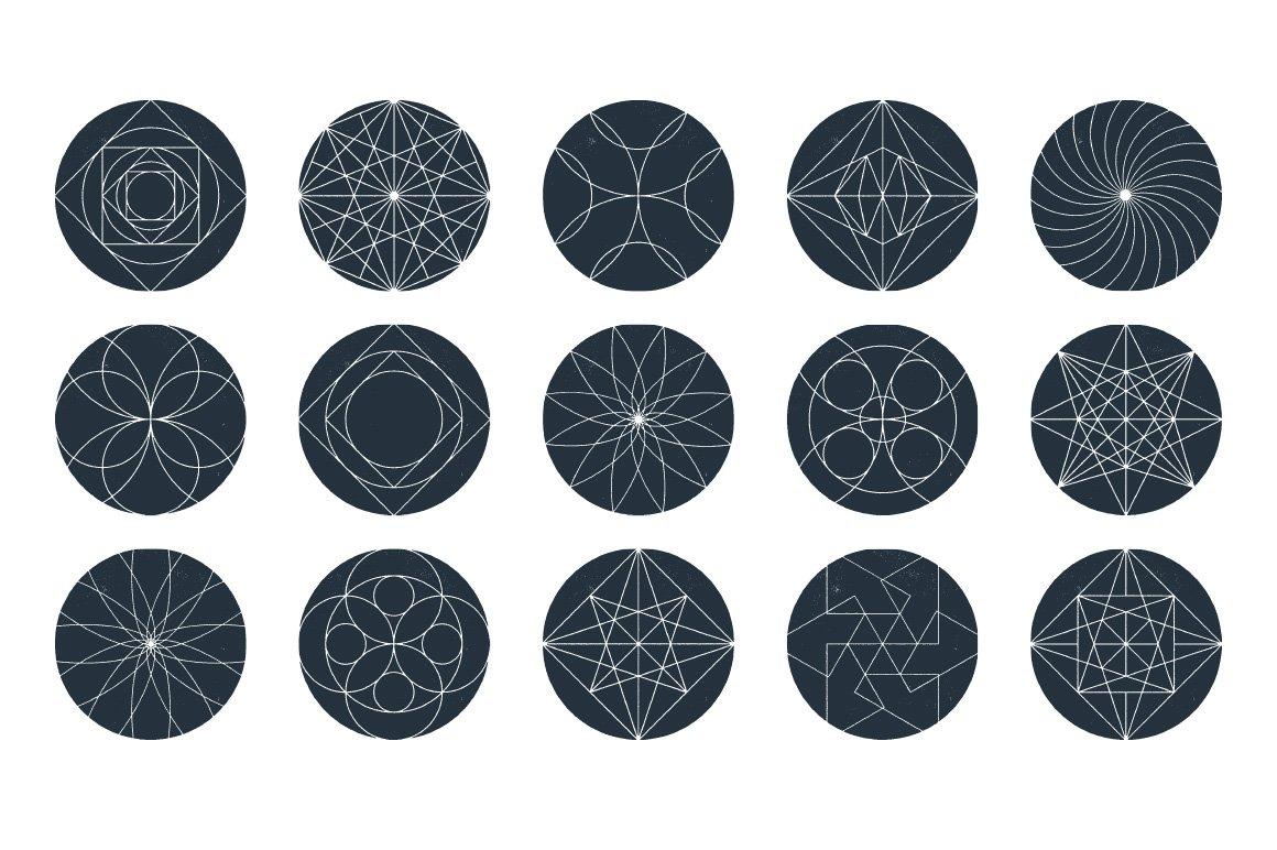 45款几何形状矢量背景图设计素材 Rulebyart – Geometric Vector Textures插图5