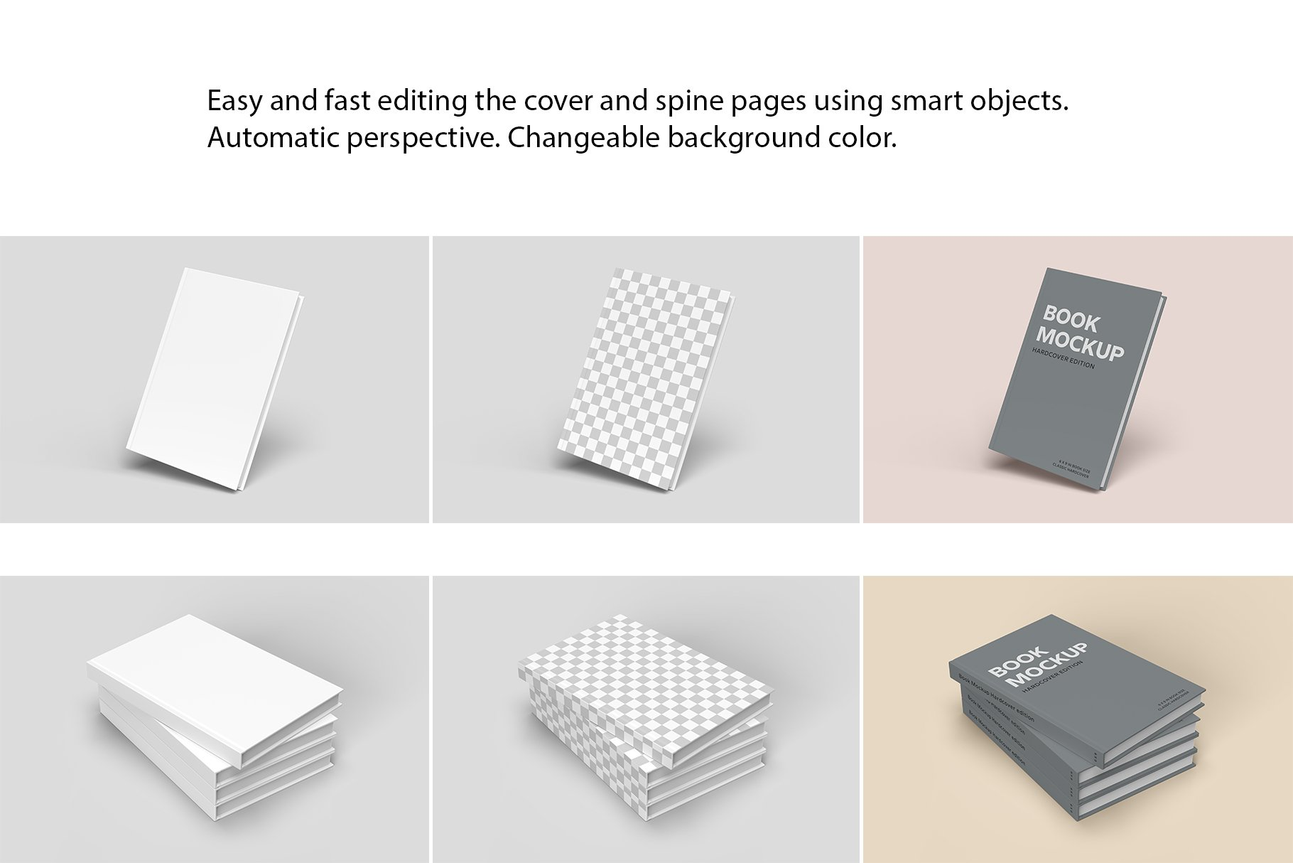 精装书硬皮书画册设计展示贴图样机 Hardcover Book Mockup插图6