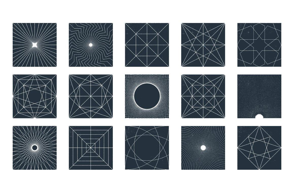45款几何形状矢量背景图设计素材 Rulebyart – Geometric Vector Textures插图6