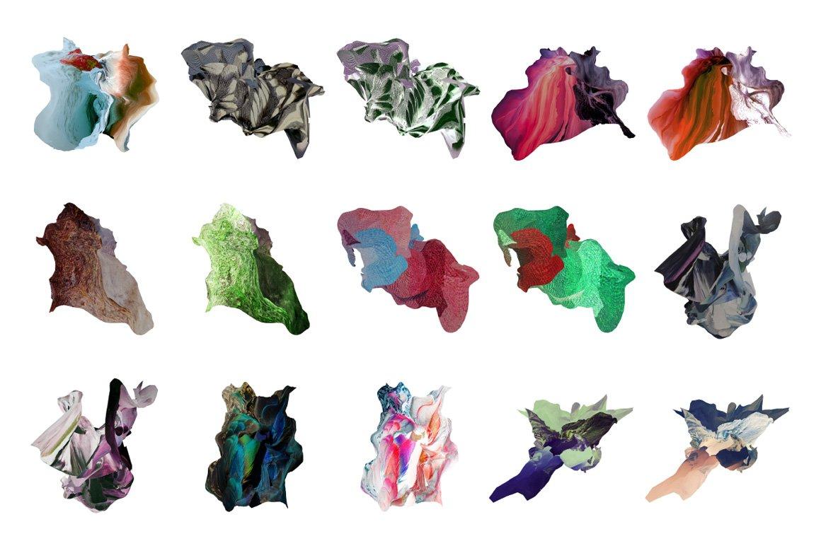 [淘宝购买] 30款抽象高清扭曲3D渲染立体图形背景纹理图片设计素材 Rulebyart – Escape插图8