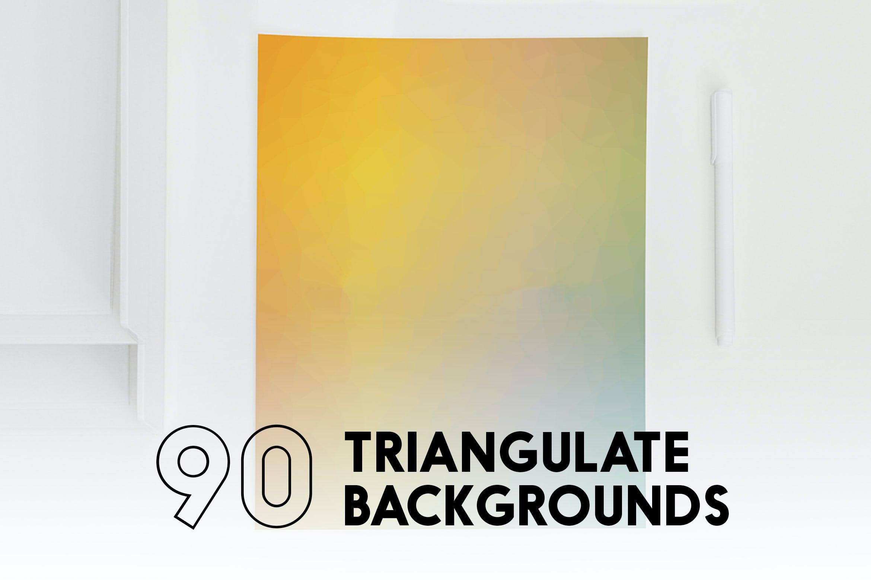 90张高清多彩几何背景PNG图片设计素材 90 Triangulate Backgrounds插图