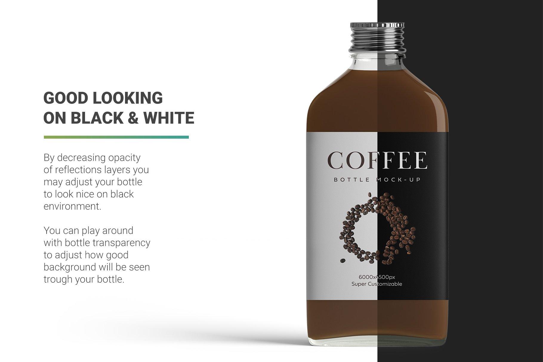 冷冲泡咖啡玻璃瓶标签设计展示贴图样机 Coffee Bottle Mockup插图9