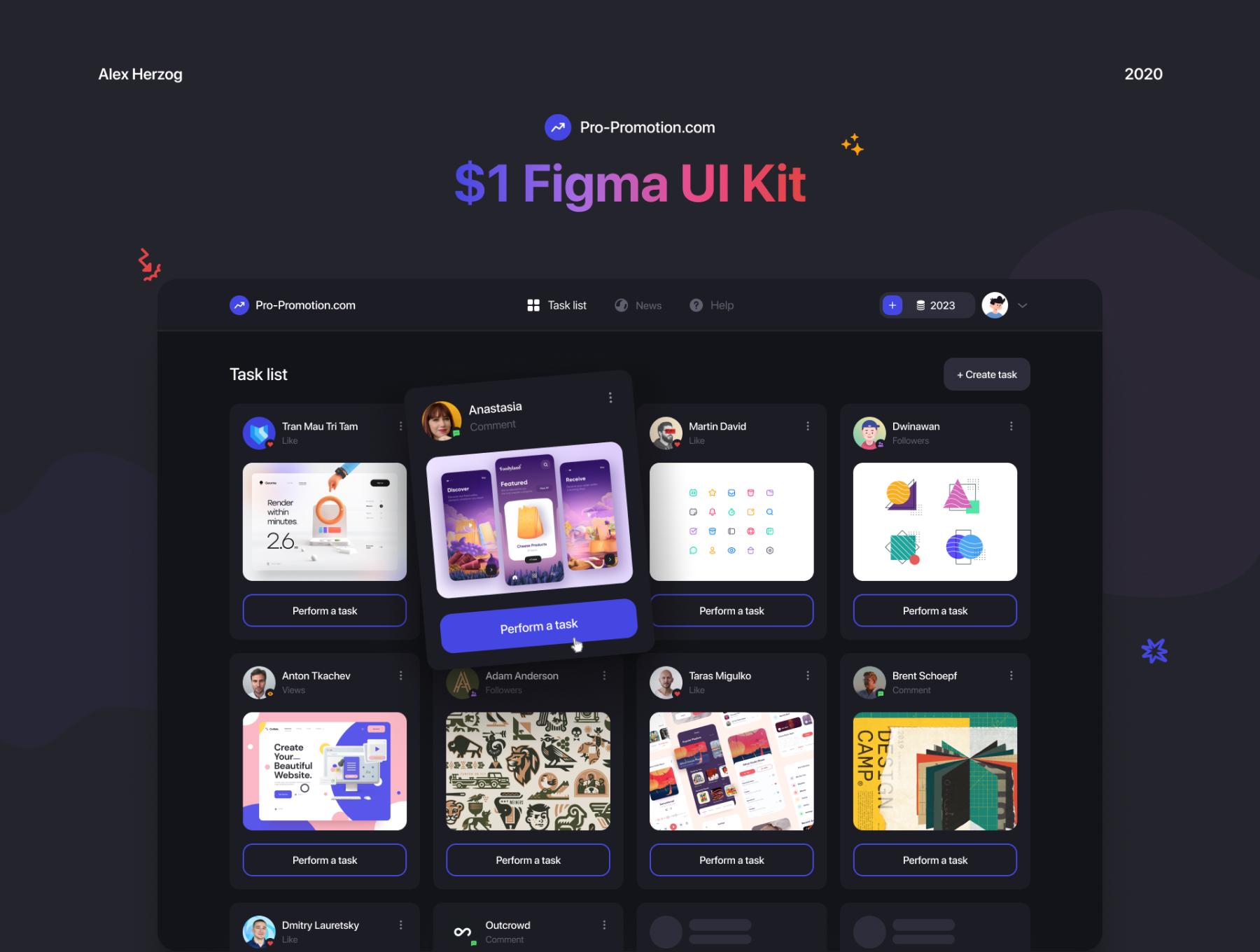 多功能设计作品集网站WEB界面设计UI套件素材 Web Service – UI Kit插图