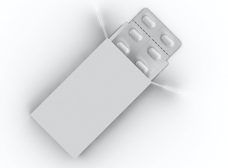药片胶囊铝塑PVC包装纸盒设计展示贴图样机 Pharmaceutical Packaging Mockup插图(3)