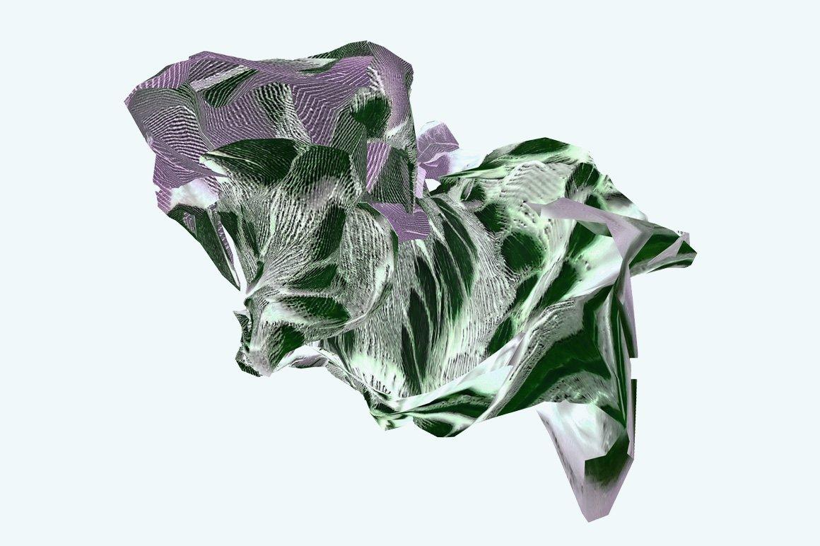 [淘宝购买] 30款抽象高清扭曲3D渲染立体图形背景纹理图片设计素材 Rulebyart – Escape插图3