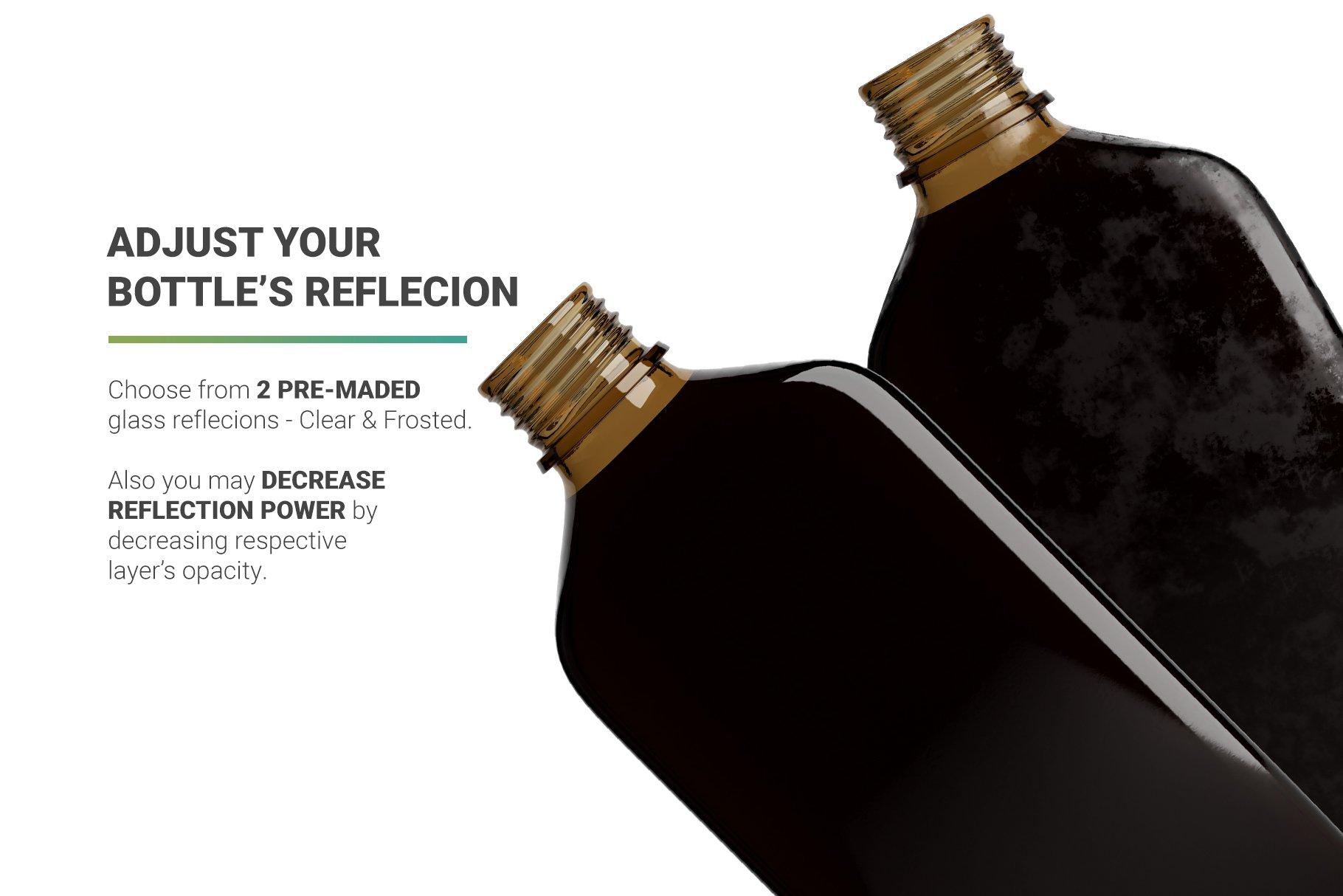 冷冲泡咖啡玻璃瓶标签设计展示贴图样机 Coffee Bottle Mockup插图4