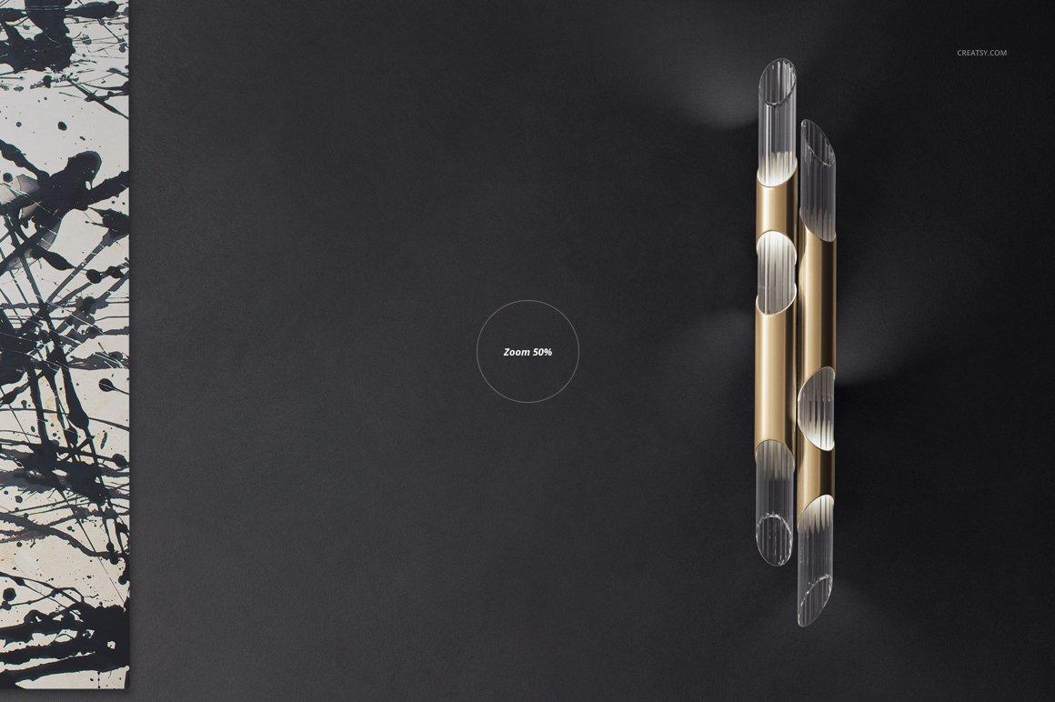 豪华室内装饰画设计展示贴图样机模板 Luxury Console Canvas Print Mockup插图6