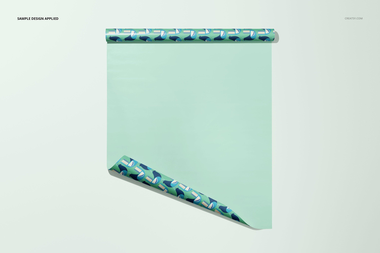 33款时尚礼品包装纸印花图案设计展示贴图样机合集 Gift Wrapping Paper Mockup Bundle插图26