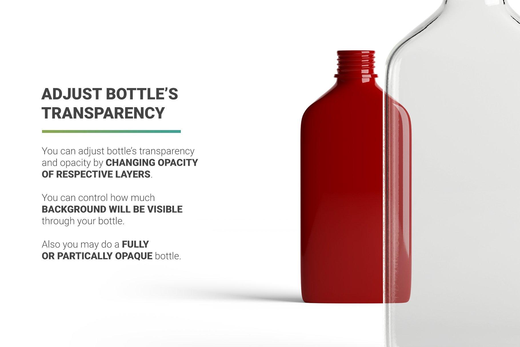 冷冲泡咖啡玻璃瓶标签设计展示贴图样机 Coffee Bottle Mockup插图5