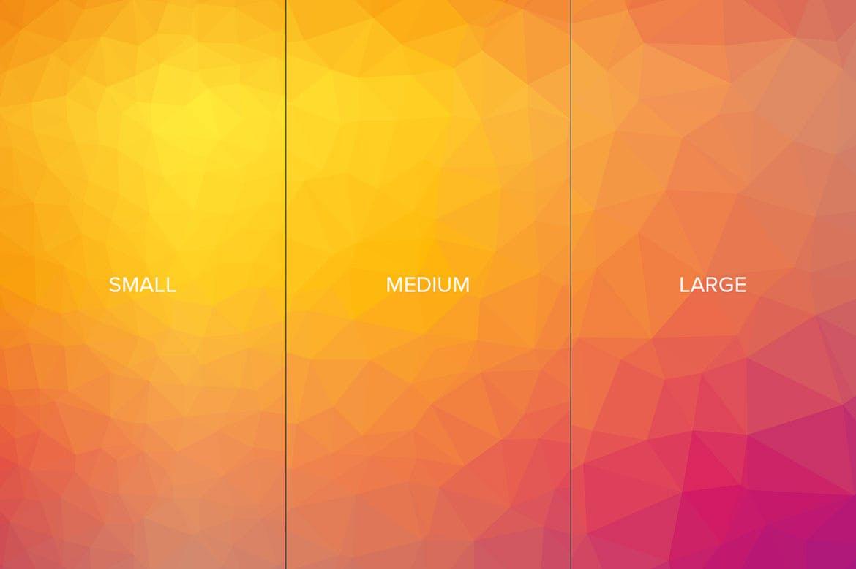 90张高清多彩几何背景PNG图片设计素材 90 Triangulate Backgrounds插图(6)
