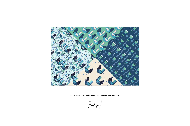 33款时尚礼品包装纸印花图案设计展示贴图样机合集 Gift Wrapping Paper Mockup Bundle插图34