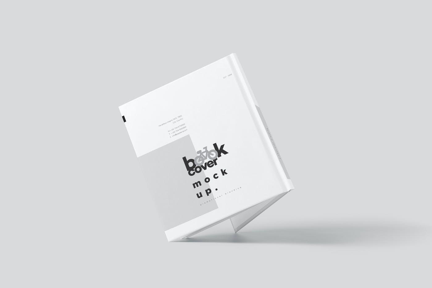 6款悬浮精装书画册设计展示贴图样机模板 Floating Hardcover Book Mockups插图7