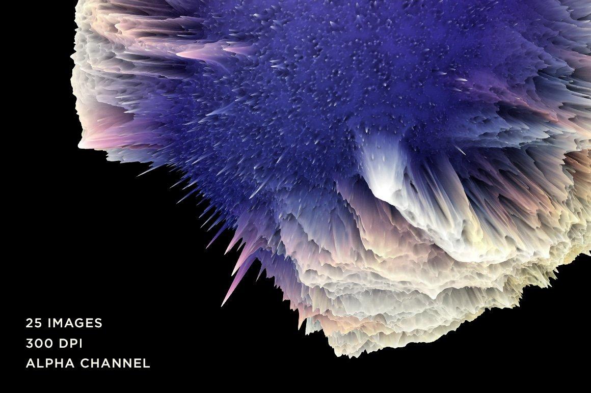 [淘宝购买] 25款潮流抽象炫酷爆炸3D渲染球体星球背景纹理PS设计素材 Rulebyart – Big Bang 2插图1