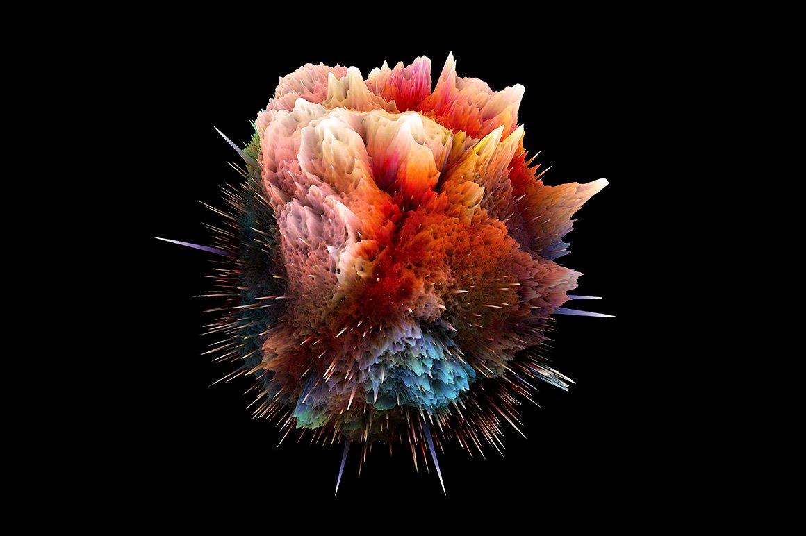 [淘宝购买] 25款潮流抽象炫酷爆炸3D渲染球体星球背景纹理PS设计素材 Rulebyart – Big Bang 2插图3