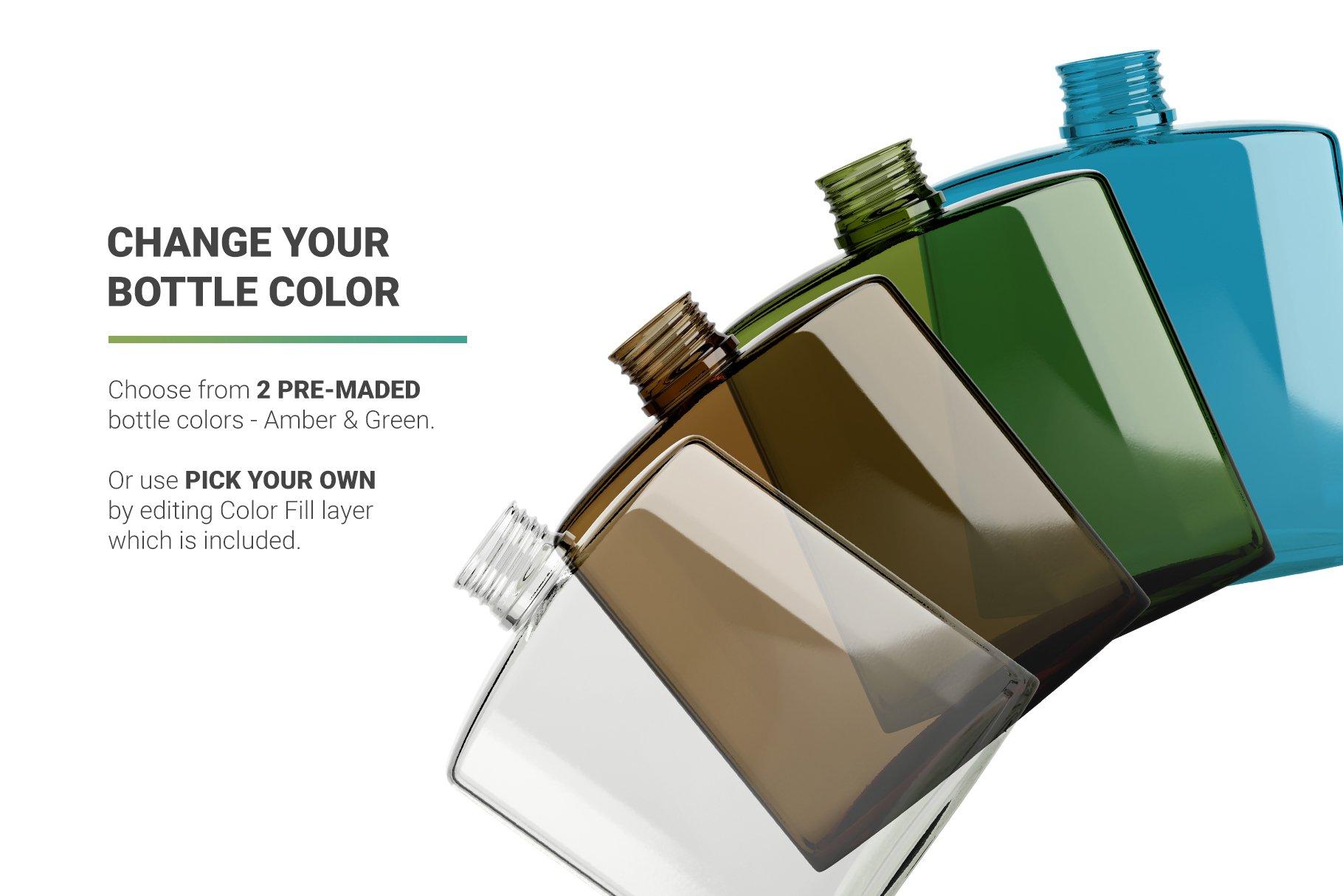 高品质冷冲咖啡包装瓶标签设计贴图样机 Coffee Bottle Mockup插图1