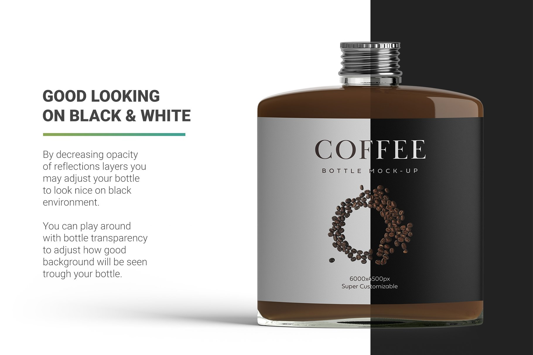 高品质冷冲咖啡包装瓶标签设计贴图样机 Coffee Bottle Mockup插图2