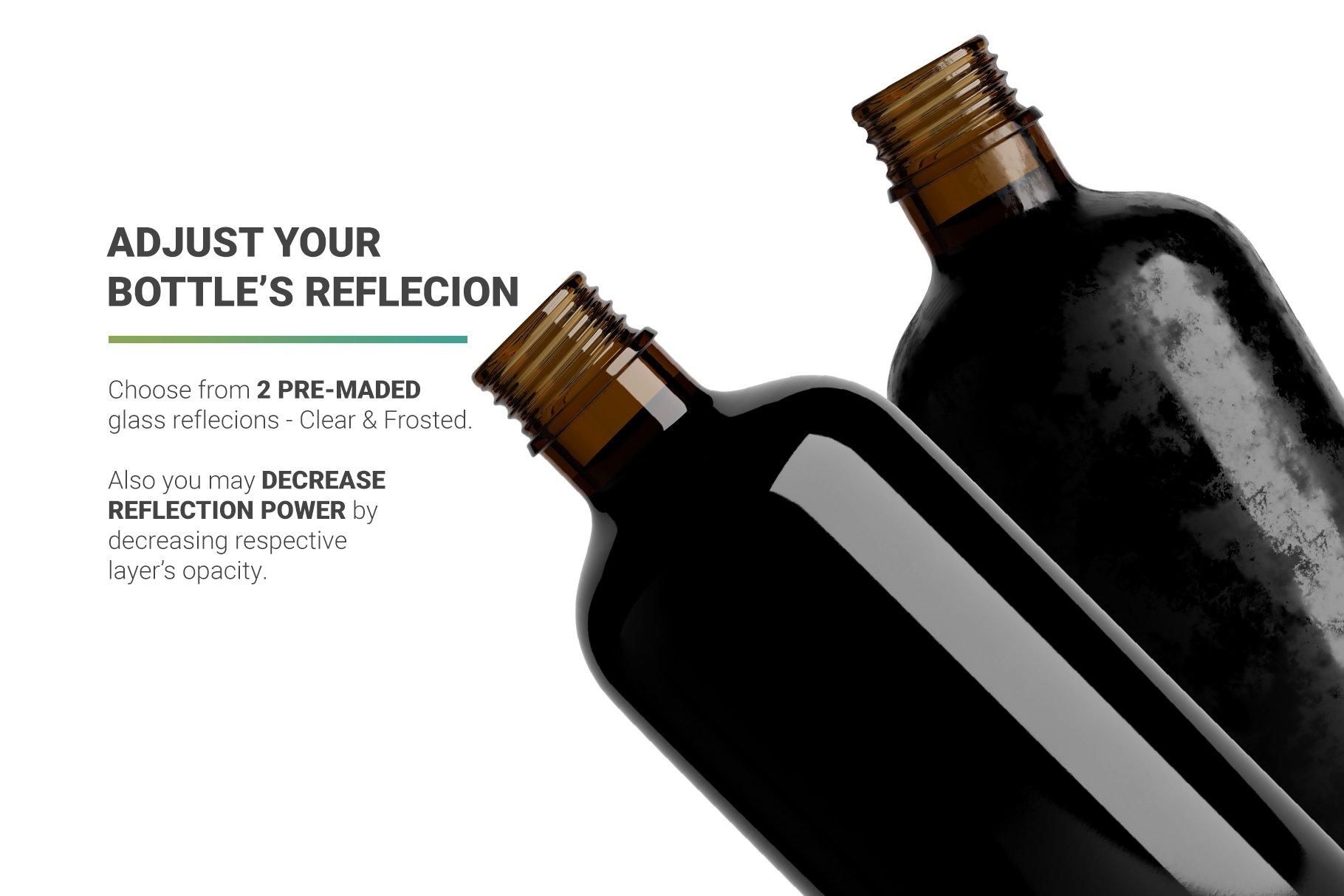 高品质冷冲咖啡包装瓶标签设计贴图样机 Coffee Bottle Mockup插图3