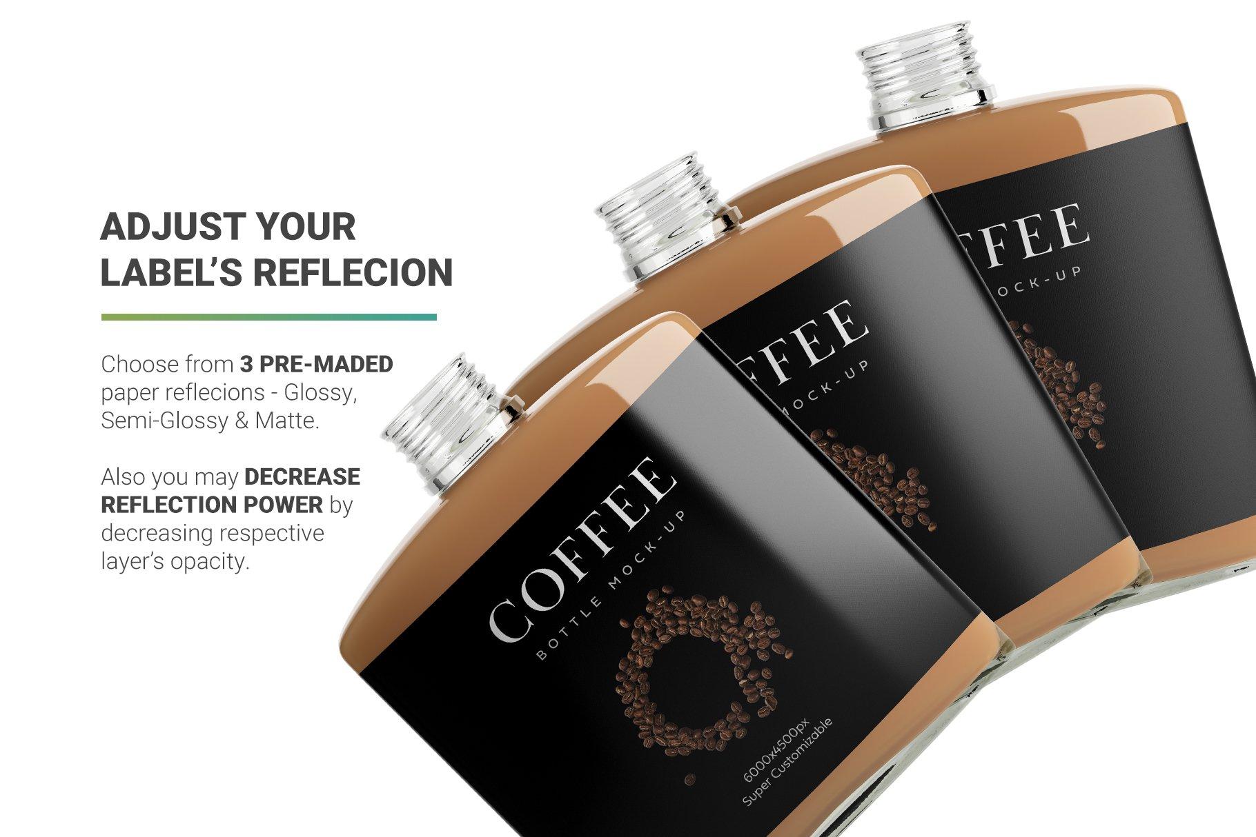 高品质冷冲咖啡包装瓶标签设计贴图样机 Coffee Bottle Mockup插图8