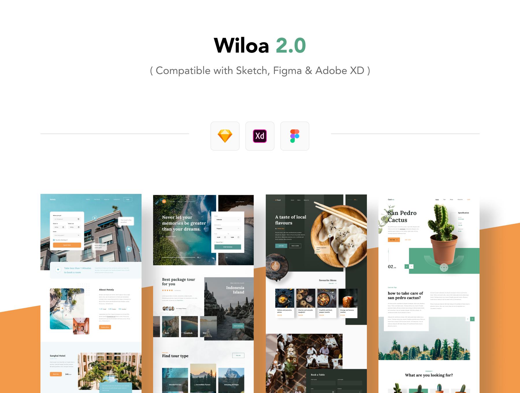 现代简约着陆页WEB界面设计UI套件素材 Wiloa 2.0 – Landing Page UI-Kit插图4