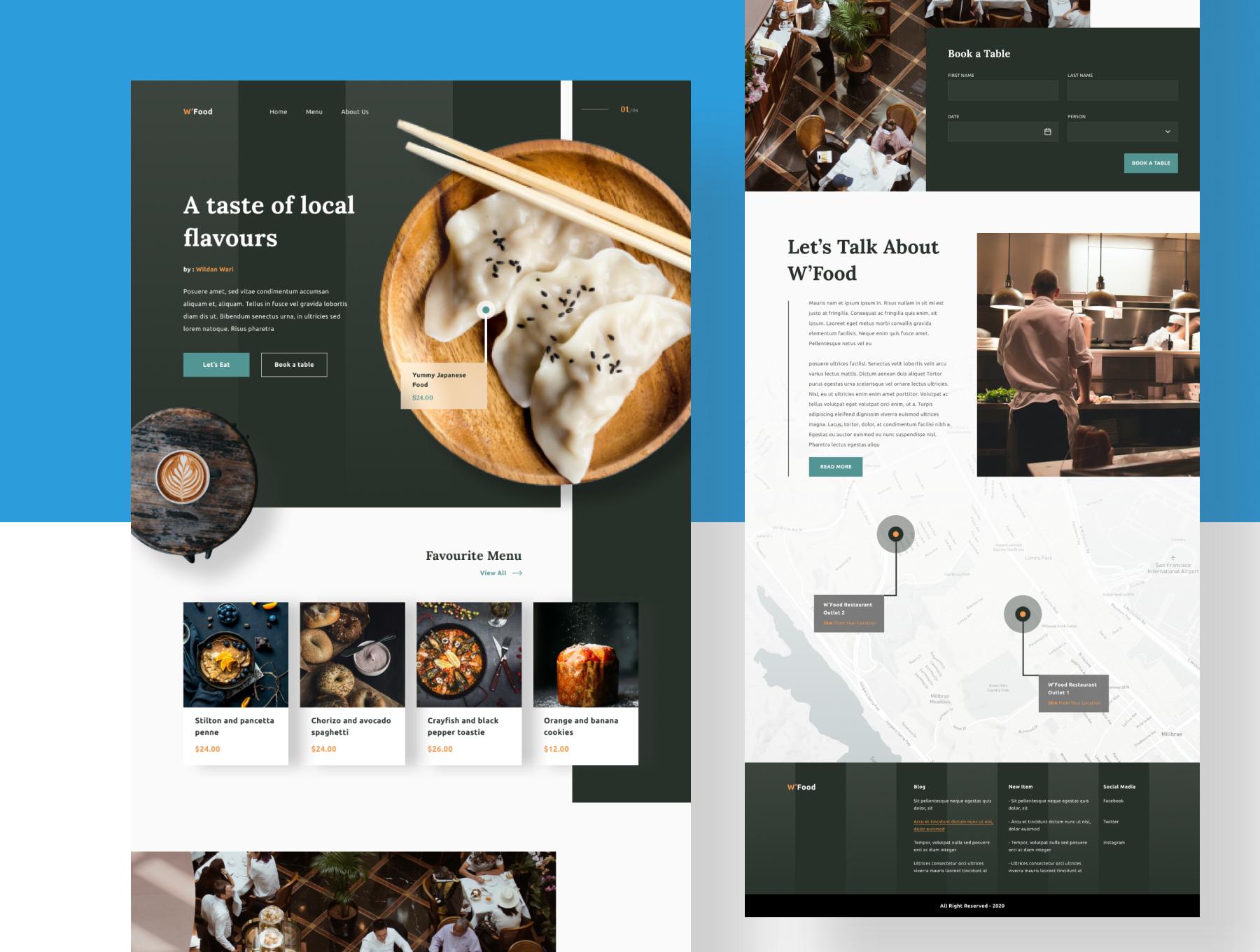 现代简约着陆页WEB界面设计UI套件素材 Wiloa 2.0 – Landing Page UI-Kit插图5