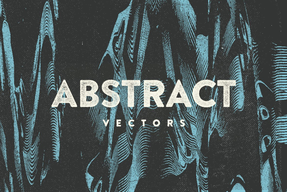 16款抽象扭曲故障失真背景纹理矢量设计素材 Rulebyart – Abstract Vectors插图