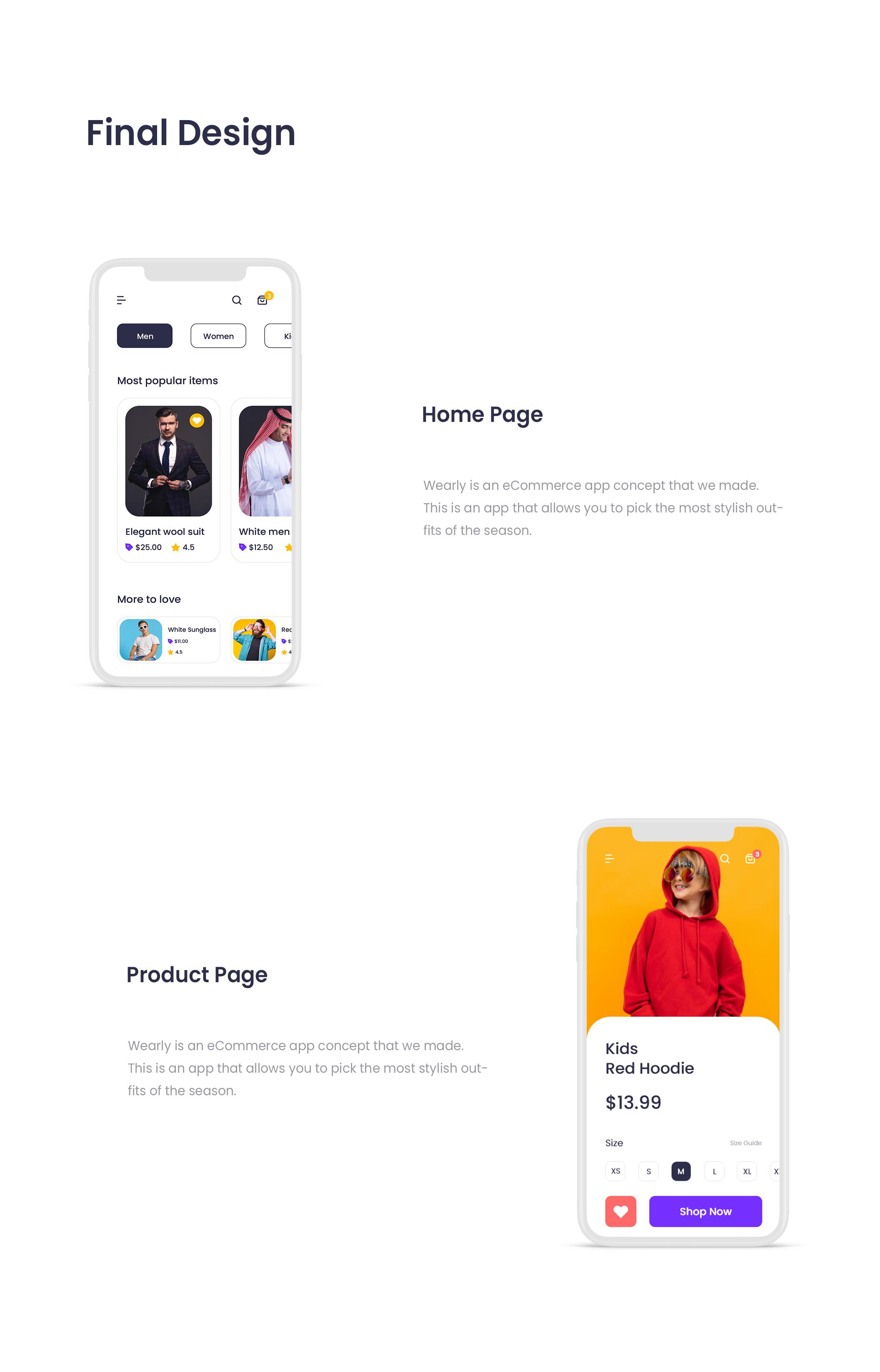 现代时尚服装电子商城APP应用程序设计UI套件素材 Wearly eCommerce App Ui Kit插图4
